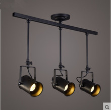 LED Spotlights American Industrial Corridor Bar Clothing Store Aisle Chandelier Lights Hall Cob Track Light