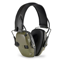 CCGK Tactical Headset Noise Reduction Canceling Electronic Sound Pickup Single Side Switch Dual Channel Tactical Pickup Earmuffs