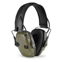 CCGK Tactical Headset Noise Reduction Canceling Electronic Sound Pickup Single Side Switch Dual Channel Tactical Pickup