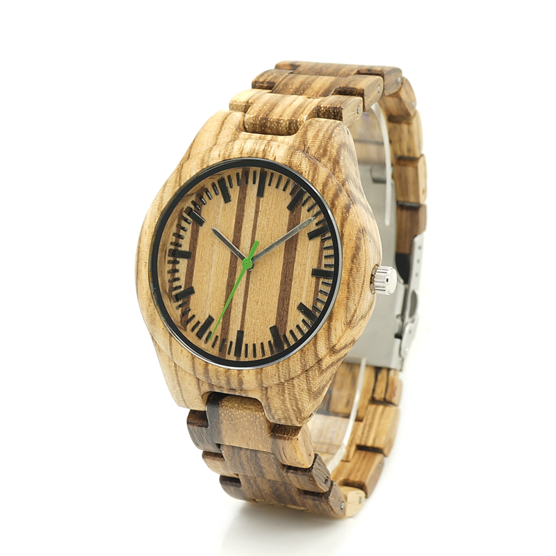 BOBO BIRD Wood Band Men's Watches All Bamboo Wood Wat $