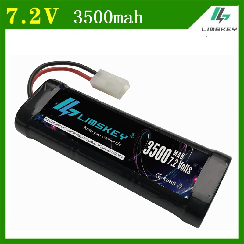 LIMSKEY Original 7.2V 3500mAh Rechargeable Battery Pack With Timiya Connectors High Capacity Cells for RC Control Toys Battery люстра crystal lux fontain sp8