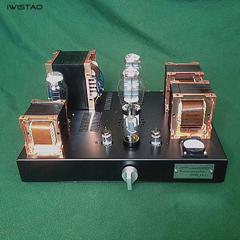 2X8 w 300B Single ended Classe Un Tube Amplificateur Britannique Red Bull Transformateur de Noyau De Fer HIFI Audio