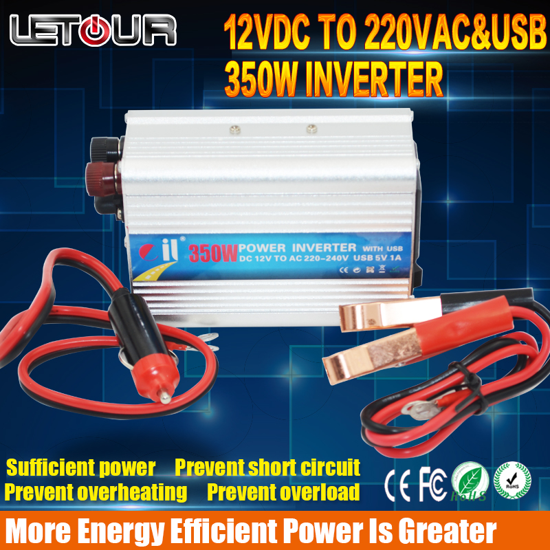 Car inverter DC12V TO AC220V AC240V 350W with USB Output Appliances Power Inverter Practical and Convenient Sufficient Power