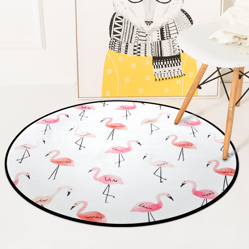Round Carpet Color Mountain Printed Soft Carpets Anti Slip Rugs Lovely Cartoon Computer Chair Mat Floor For Home Kids Room In From Garden