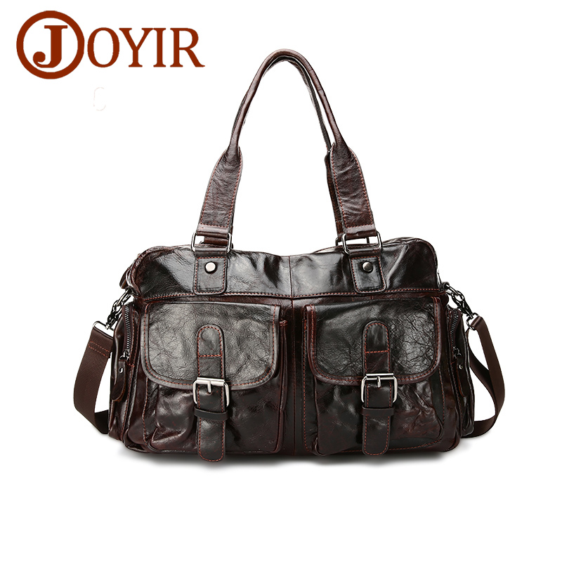 JOYIR 2017 Genuine Leather Men Casual Shoulder Bags Wax Oil Leather Crossbody Bag Men Tote Bags Handbag for Male Men Bag A-061 women handbag shoulder bag messenger bag casual colorful canvas crossbody bags for girl student waterproof nylon laptop tote
