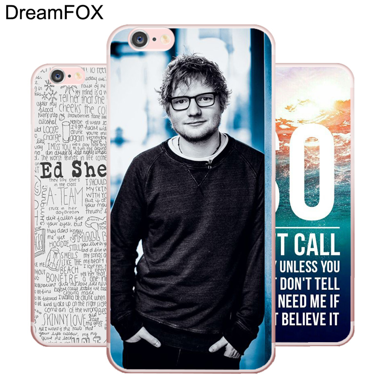 Dreamfox L152 Ed Sheeran Soft Tpu Silicone Case Cover For Le Iphone X Xr Xs Max 8 7 6 6s Plus 5 5s Se 5c 4 4s