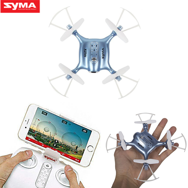 SYMA X21W Mini RC Drone with Camera WIFI FPV Helicopter 2.4GHz 4CH 4Aixs Gyro Altitude Hold RC Quadcopter Helicopter Dron syma x14w 2 4g 4ch 6 axis gyro rc quadcopter with 702p hd camera wifi fpv remote control drone rc helicopter altitude hold