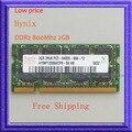 Дешевые Цены!! для Hynix 2 ГБ PC2-6400 DDR2-800 800 МГц 200pin SO-DIMM Памяти Ноутбука ddr2 800 sodimm 200-КОНТАКТНЫЙ Ноутбука RAM Обновление