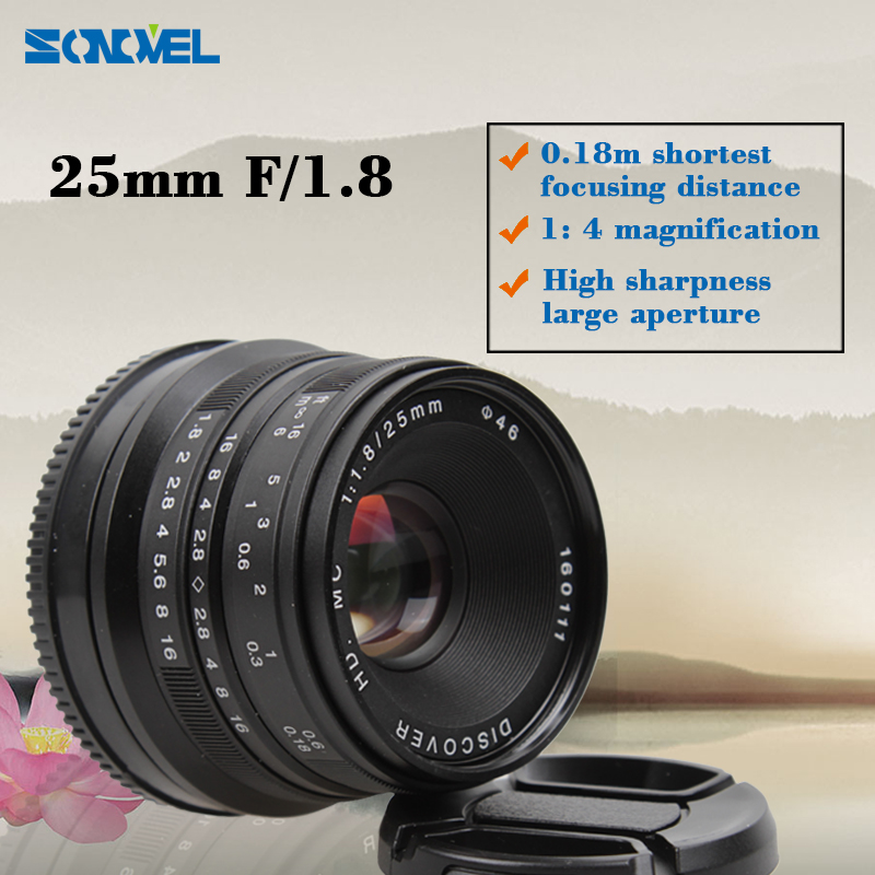 25mm F/1.8 HD MC Interface Manual Focus Lens for SONY E mount A7 II NEX3 5 6 7 A6000 A6300 NEX-5K; NEX-5R; NEX-6; NEX-6L Black sony a7 ii alpha a7 mark ii mirrorless digital camera with sony fe 28 70mm f 3 5 5 6 oss lens