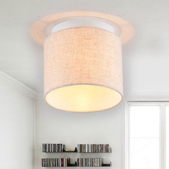 Aliexpress buy fabric shade corridor ceiling lamp with e27 fabric shade corridor ceiling lamp with e27 led bulb balcony ceiling light 110v 220v free shipping mozeypictures Choice Image