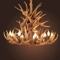 Antlers Resin Chandelier Lamp Modern LED Antler Chandelier Lustre Chandeliers E14 Vintage Lights Novelty Lighting fixtures