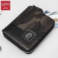 Fashion short wallet men waterproof male wallet leather with coin pocket leather zipper wallet purse cartera mujer men wallets