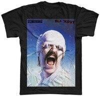 Cotton Shirts New Scorpions Blackout Album Cover Rock Metal Shirt M L XL Crew Neck Regular
