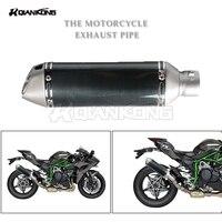 R QIANKONG motor modificado tubo de escape Para KTM EXC SX 250 125 690 390 DUQUE CRF YAMAHA TMAX R1 R6 530 500 KAWASAKI Z750 Z800 250