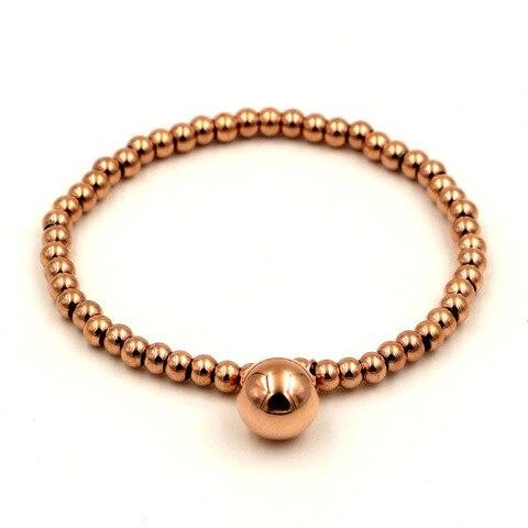 Купить популярные украшения эластичный браслет с бусинами из розового