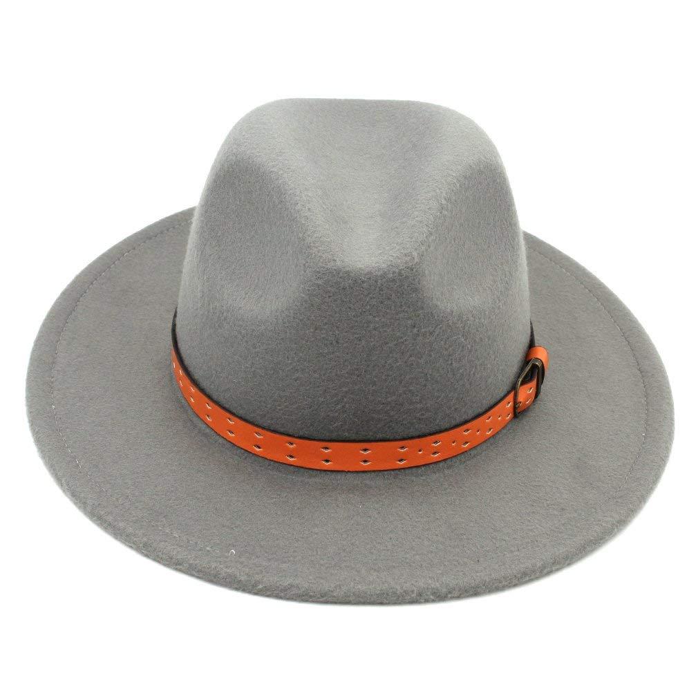 cd45f8af70960 Mistdawn Women Men Wool Blend Panama Hats Wide Brim Fedora Trilby Caps  Orange Belt Band-in Fedoras from Apparel Accessories on Aliexpress.com