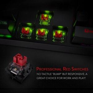 Image 2 - Redragon K582 SURARA RGB LED עם תאורה אחורית משחקים מכאניים מקלדת with104 מפתחות ליניארי ושקט אדום מתגי מהיר Actuation