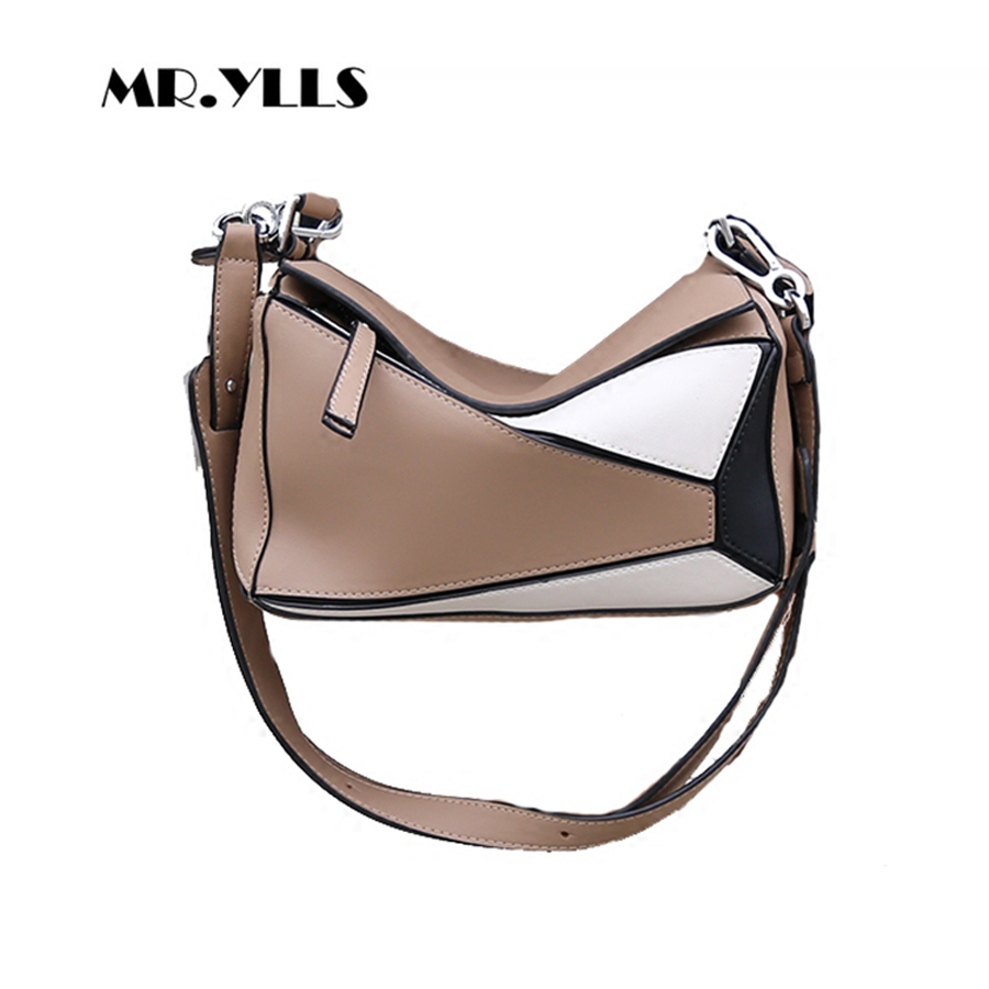 Women Messenger Bags PU Leather Handbags Patchwork Hip Color Shoulder Bags Pillow Fashion Women Tote New Femaels Crossbody Bolsa yanxi new 2016 new hot women patchwork good pu leather tote fashion versatile zipper handbags us dollar designer shoulder bags