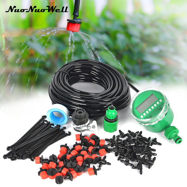 NuoNuoWell DIY 4MM Micro Drip Irrigation System Plant Auto Timer ...