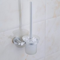 2016 Modern Bathroom Accessories Space Aluminum Fashion Toilet Brush Set Creative Design Toilet Bowl Toilet Cleaning