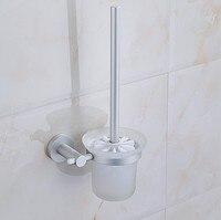 2016 Modern Bathroom Accessories Space Aluminum Fashion Toilet Brush Set Creative Design Toilet Bowl Toilet Cleaning
