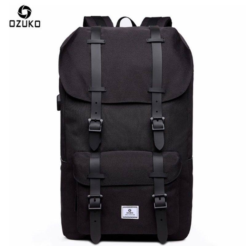 OZUKO Backpack Men's USB Charge Anti theft Notebook Designer Computer Oxford Waterproof School Bags For Teenagers Travel New baibu men backpack usb charge notebook business 15 6 computer bag waterproof anti theft women travel school bags for teenagers