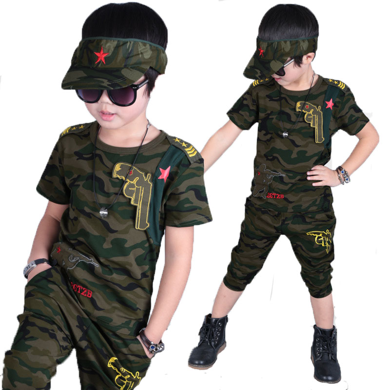 2018 NEW Kids Clothes Summer 6 10 12 14 Boys Clothes Set Children Fashion Camouflage T-shirt+ Short 2pcs Toddler Clothing Sets 2017 new summer boys clothes short t shirt pants 2pcs children clothing set casual kids suits for toddler boys page 8 page 4