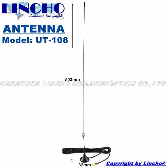UT-108 антенна 144 430 МГц sma мужской любительское двухстороннее любительское радио uhf укв магнитное основание антенны