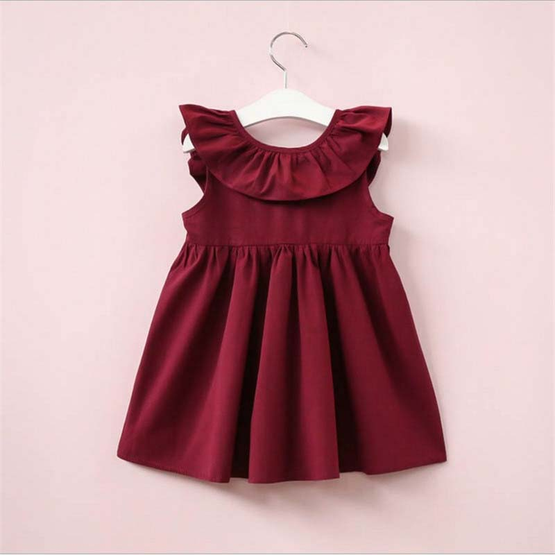 BibiCola Girls Dresses 2018 Summer Style Kids Princess Dress Children Clothing Sleeveless Casual pattern Design Girls Clothes
