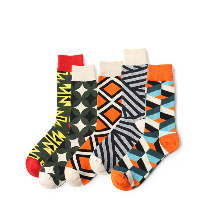 Colorful Long Art funny Cute Printed striped socks Men Breathable Cotton ladies Socks women socks Crew Ankle Happy Socks