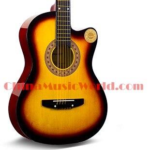 38 inch Free shipping/ Basswood plywood Top, Back & Sides/ Maple Neck/ Rosewood fretboard/ AFATNI acoustic guitar(ACM-160) acoustic guitar neck fingerboard fretboard for guitar parts replacement rosewood zebrawood veneer