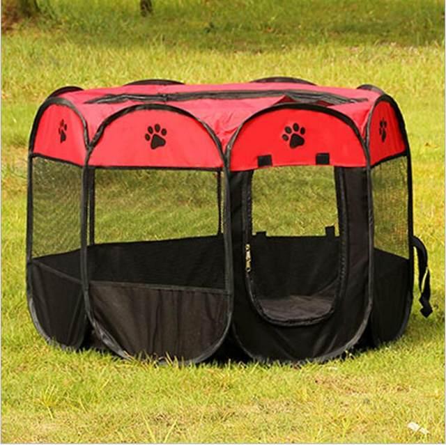 image & Online Shop Petminru Portable Folding Dog House Pet tent Cage Dog ...