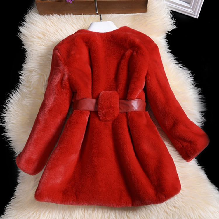 2016 Winter Children 's clothing faux rabbit fur coat large children girl furry overcoat children 's fur coat rushdie s midnight s children