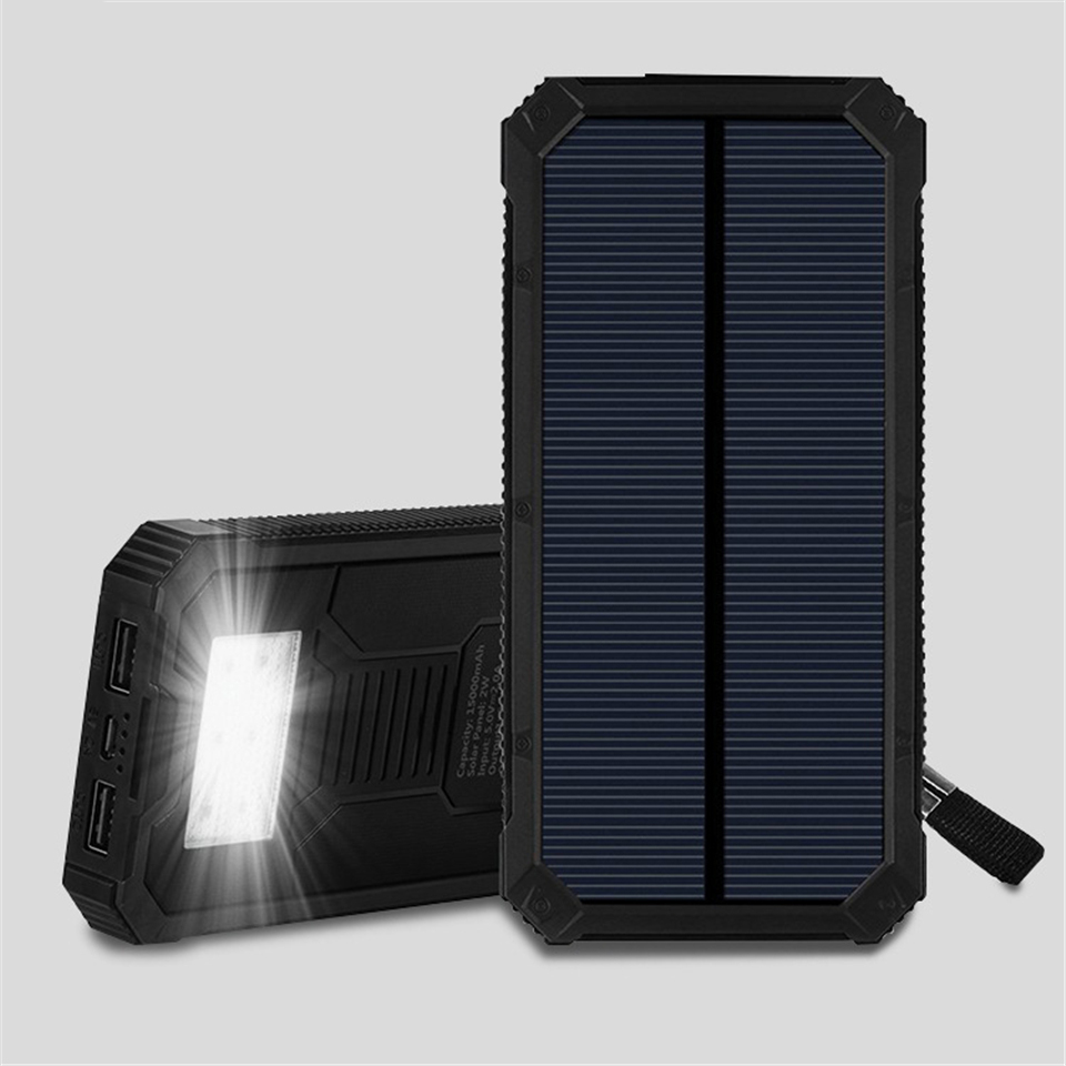 Solar poweed flashlight 5V 1A power bank torch light high brightness outdoor camping lighting 2 mode sos flash-light outdoor camping emergency light solar powered led flashlight self defense glare flashlight hammer torch light with power bank