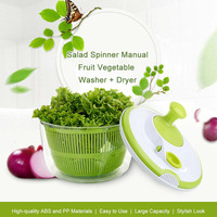 Practical 5L Salad Spinner Fruit Vegetable Dehydrator Washer Cleaner Dryer Colander Basket Kitchen Food Cleaning Drying Machine