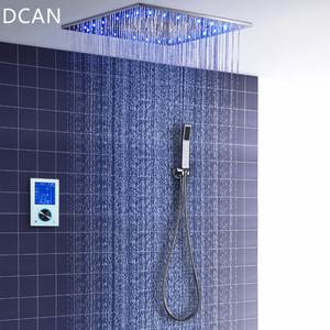 DCAN Shower-Set Thermostatic Intelligent Rain-Mode Spa-Spray Touch-Monitor LED Digital