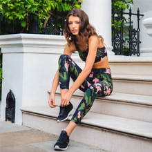 New Fashion Women Camouflage Suits for Women Sexy Printed Leggings Crop Top Two Piece Set Fitness Clothing Women Tracksuit Suit