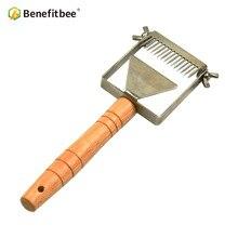 Pszczelarstwo widelec plaster miodu miód skrobak Benefitbee marki narzędzie pszczelarskie Apicultura sprzęt regulowany Uncapping widelec miód