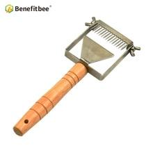 Tenedor de Apicultura, panal de miel, raspador de miel, herramienta de Apicultura, equipo de Apicultura, horquilla ajustable para destapar miel
