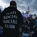 Hip hop fashion mens hoodie sportswear fleece sweatshirt autumn winter skateboard tracksuit pullover hoodies  ANTI SOCIAL CLUB