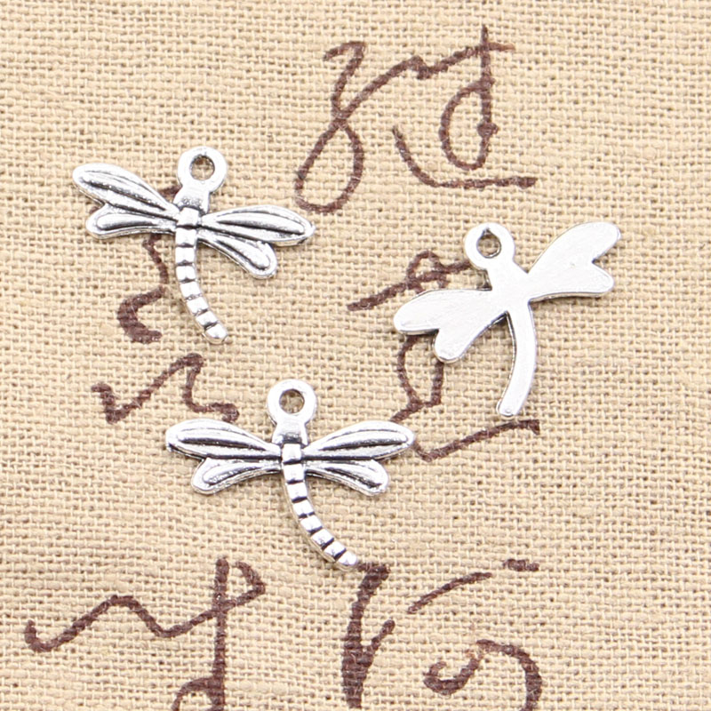 30pcs Charms Dragonfly 15x18mm Antique Making Pendant Fit,Vintage Tibetan Silver Color,DIY Handmade Jewelry