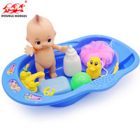 Высокого качества 34 см для Для ванной Игрушечные лошадки для детей новорожденных раннего образования Ванная комната игровой набор Для ванн...