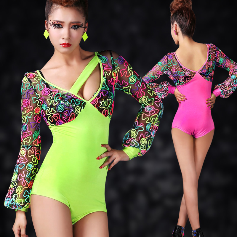 dd727c701 Fashion sexy clothes neon one piece costume ds performance wear-in ...