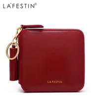 LAFESTIN Brand Women   Wallet   Brand Genuine Leather Short   Wallet   Fringe Coin Purse Credit Card Holder Lady Zipper   Wallet   Purses