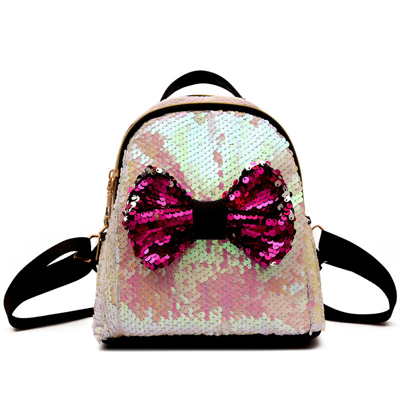 a82550c866d4 ... Women Sequins Backpacks Teenage Girls Travel Party Mini School Bags Ear  Shoulder Rucksack Zipper Shiny Backpack. В избранное. gallery image