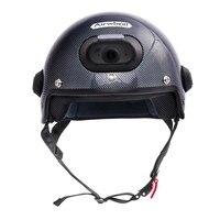 C6 углерода Волокно безопасный шлем с WI FI Камера и телефон автоответчик, 2 К видео Стрельба С Бесплатное мобильное приложение Управление и Во
