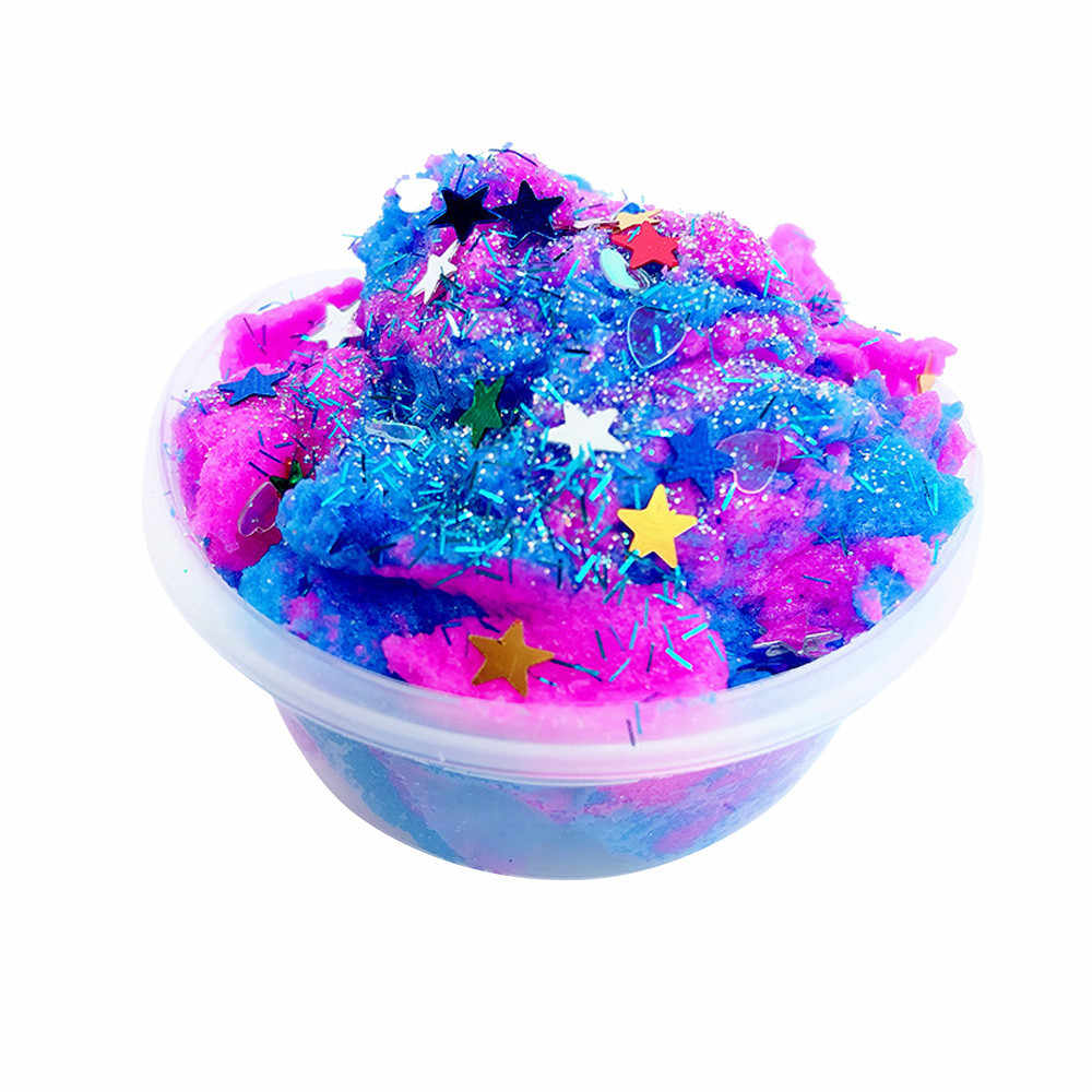 2019 60ML Multicolor Stars Mixing Cloud Slime Putty Scented Stress Kids Clay Toy squishy smooshy mushy toys for children