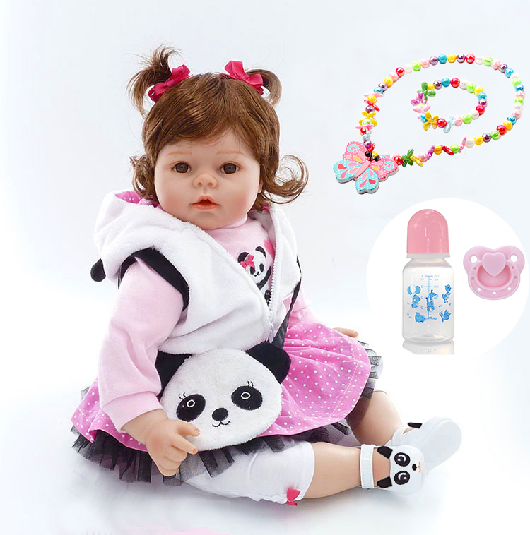 52cm Bebe Silicone Reborn Boneca Realista Fashion Baby girl Dolls For Princess Children Birthday Gift Bebes rebon Dolls52cm Bebe Silicone Reborn Boneca Realista Fashion Baby girl Dolls For Princess Children Birthday Gift Bebes rebon Dolls