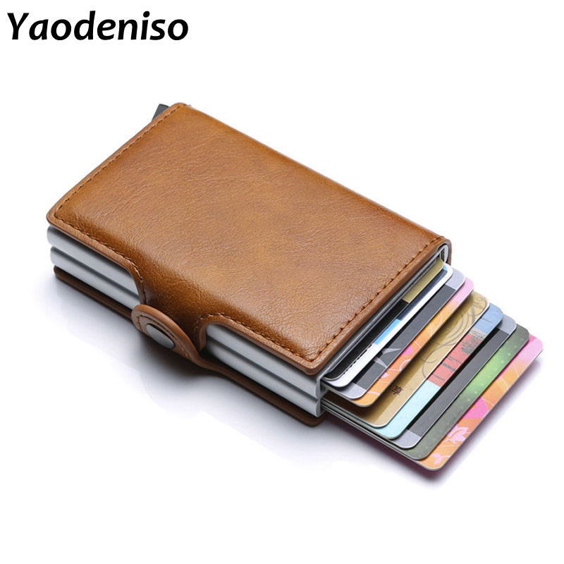 Yaodeniso 2019 New Double Credit Card Holder Card Case