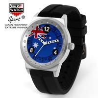 Fashion GT WATCH Brand Australia Flag Men Women Silicone Strap Quartz Watch F1 Racing Style Military